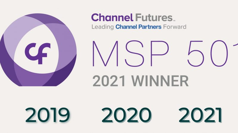 KMT ranked in top #3 Managed IT Service Providers in Australia 2021 for Channel Futures Awards